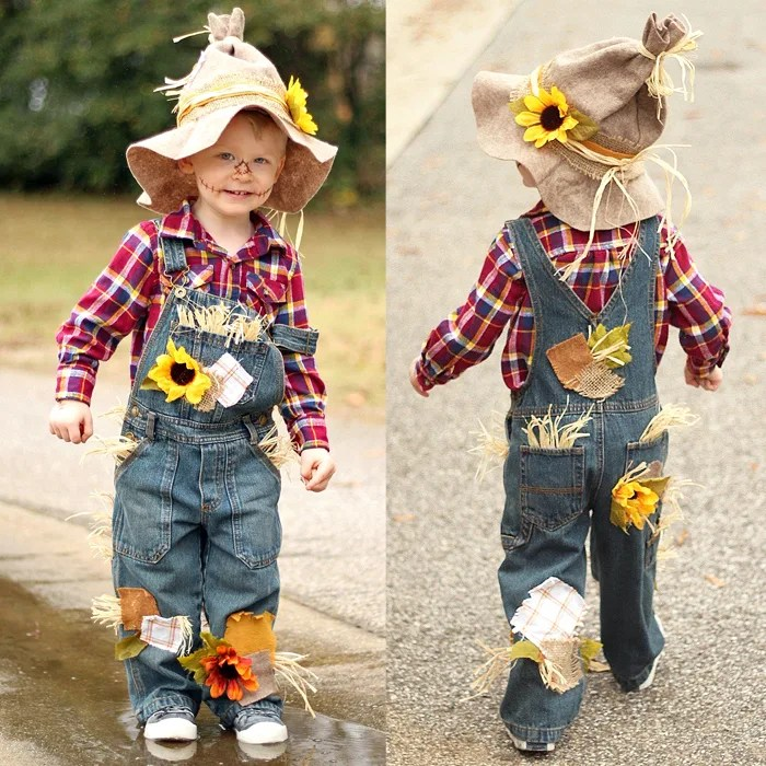 Easy & Adorable DIY Scarecrow Costume